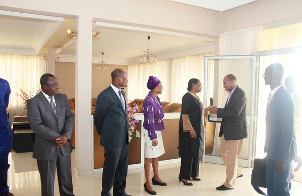 Le 01 mai à Lomé, le SRSG Chambas, rencontre les acteurs politiques et les représentants des organisations régionales, suite à la présidentielle du 25 avril au Togo. (ph DR)