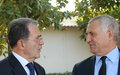 Romano Prodi and Said Djinnit on a joint visit on the Sahel