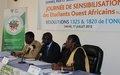 Journée de sensibilisation des étudiants (es) ouest-africains sur les résolutions 1325 et 1820