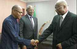 On 21 April, the Prime Minister of Cameroon Mr. Philemon Yang met with Mr. Mohamed Ibn Chambas, UNOWA Chief and Mr. Abdoulaye Bathily, UNOCA Chief.